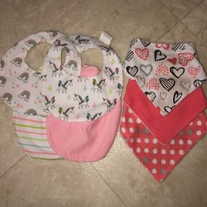 Baby girl bibs (2 days only)
